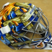 Richard Bachman mask (right side) (Photo: Patricia Teter. All Rights Reserved.)